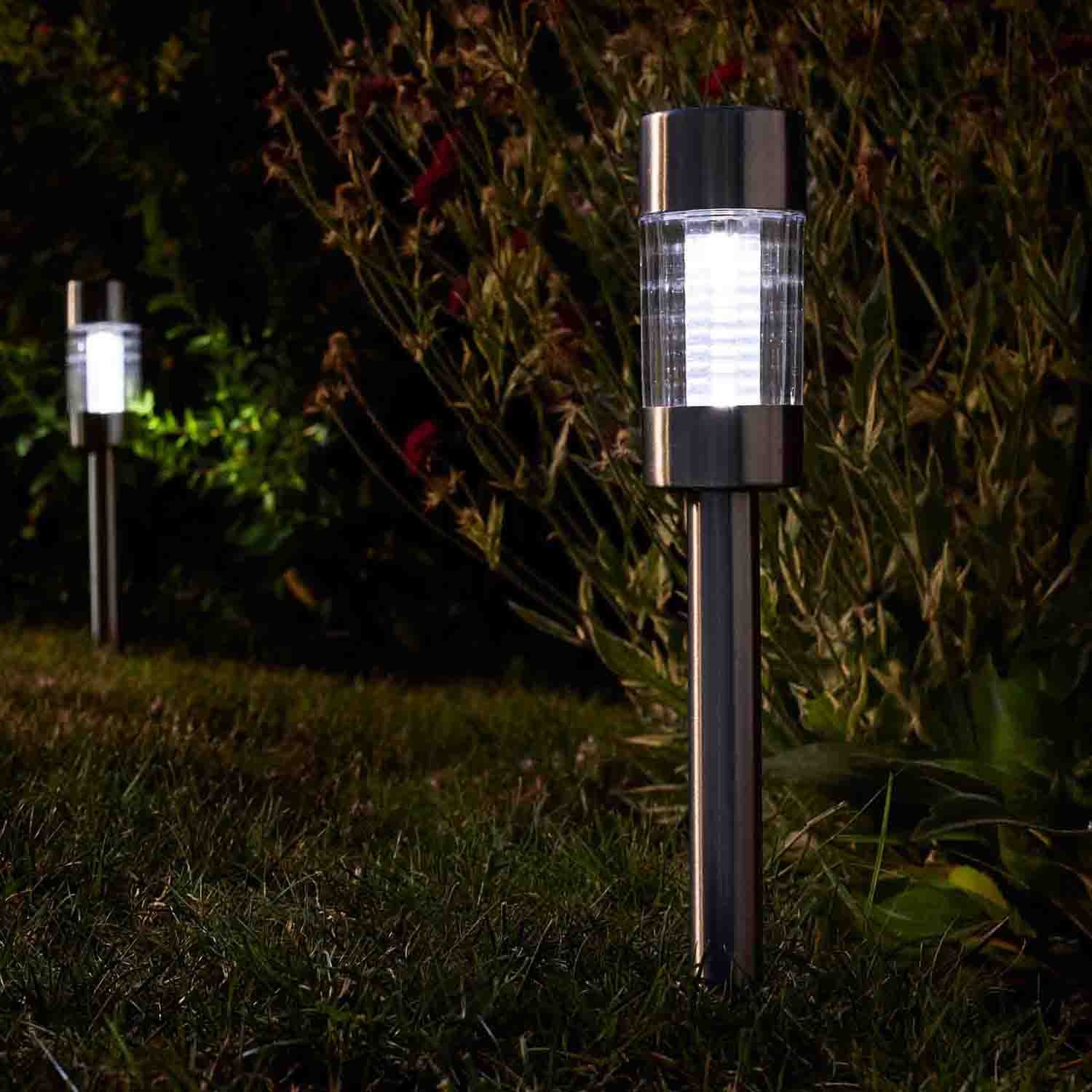 Outdoor Solar Garden Lights Smart Garden Flare Solar Lights Pack Of 5 Leekes
