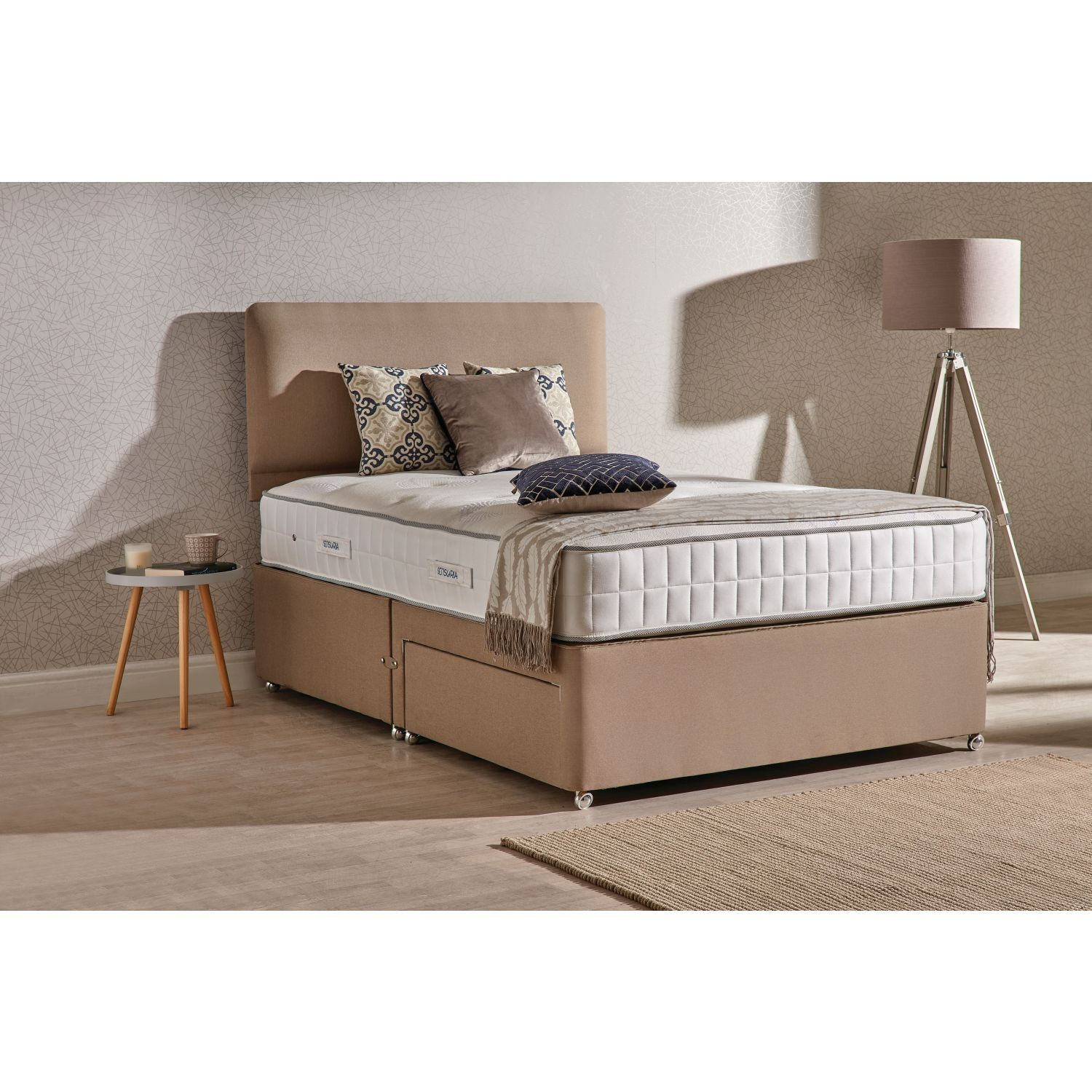 Double Divan Beds Sleepeezee Roma 800 2 Drawer Divan Bed Set Double