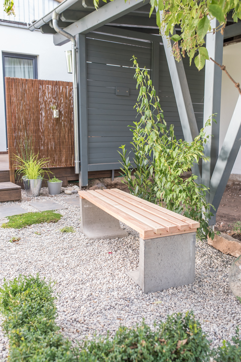 Garten Do It Yourself Ideen Diy Gartenbank Mit Beton Und Holz Leelah Loves
