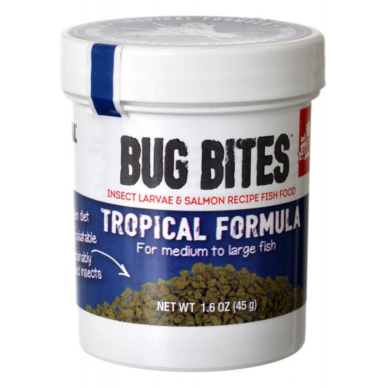 Granule Lg Fluval Bug Bites Tropical Formula Granules For Medium Large Fish