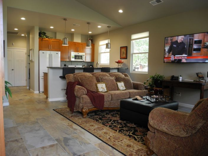 north valley casita custom home living room