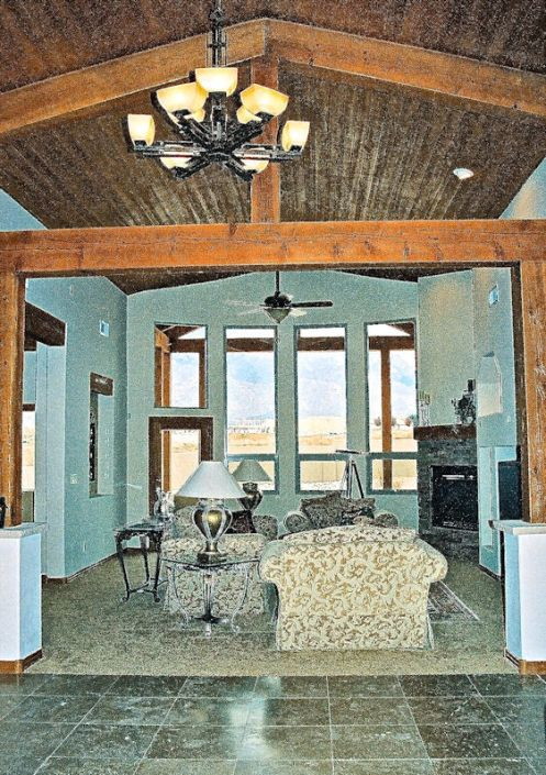 northeast heights craftsman home living room