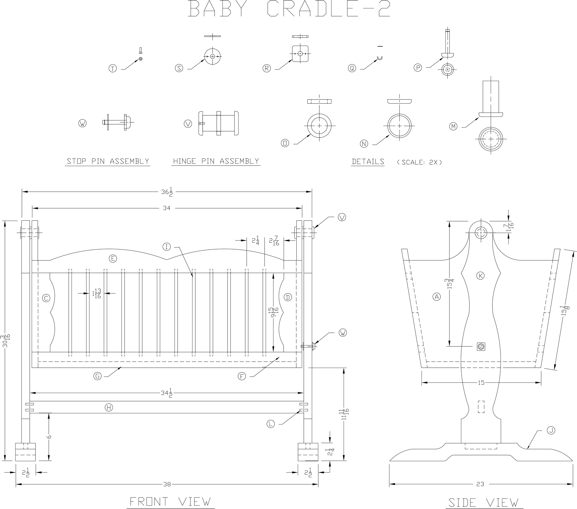 Baby Cradle Dimensions Wooden Baby Cradle Modified Plan Woodworking Plans From