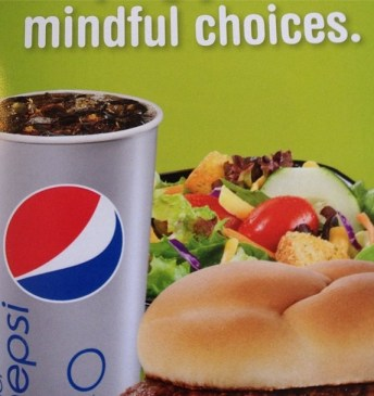 "Inspired, no doubt, by the Buddha's famous ""Burger and Pepsi"" discourse"