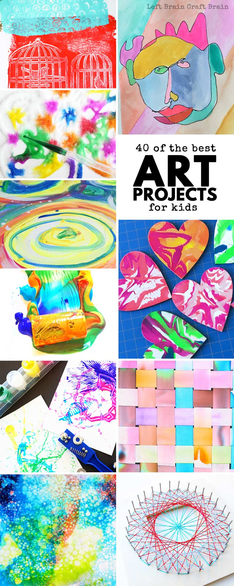 Art Craft Ideas 40 Of The Best Art Projects For Kids Left Brain Craft Brain