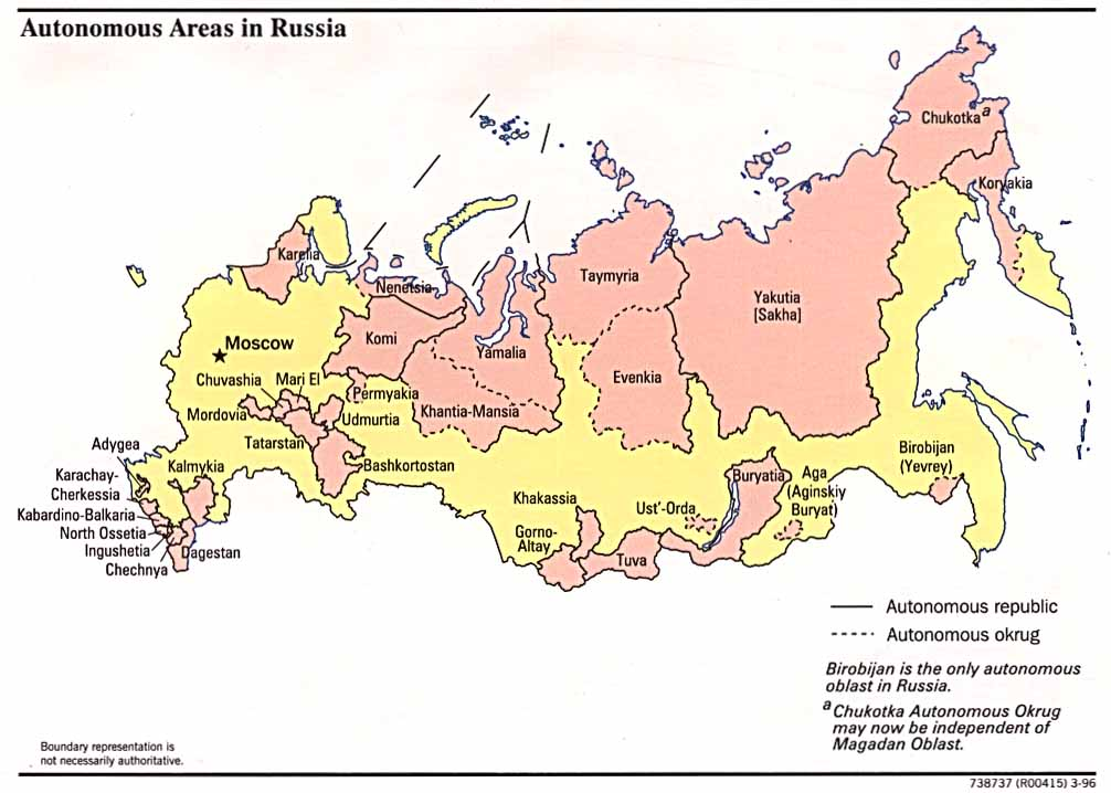Russia and the Former Soviet Republics Maps - Perry-Castañeda Map