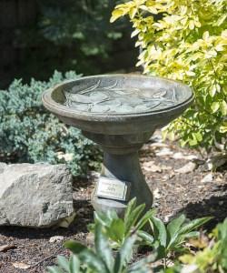 Butterfly design legacy memorial birdbath
