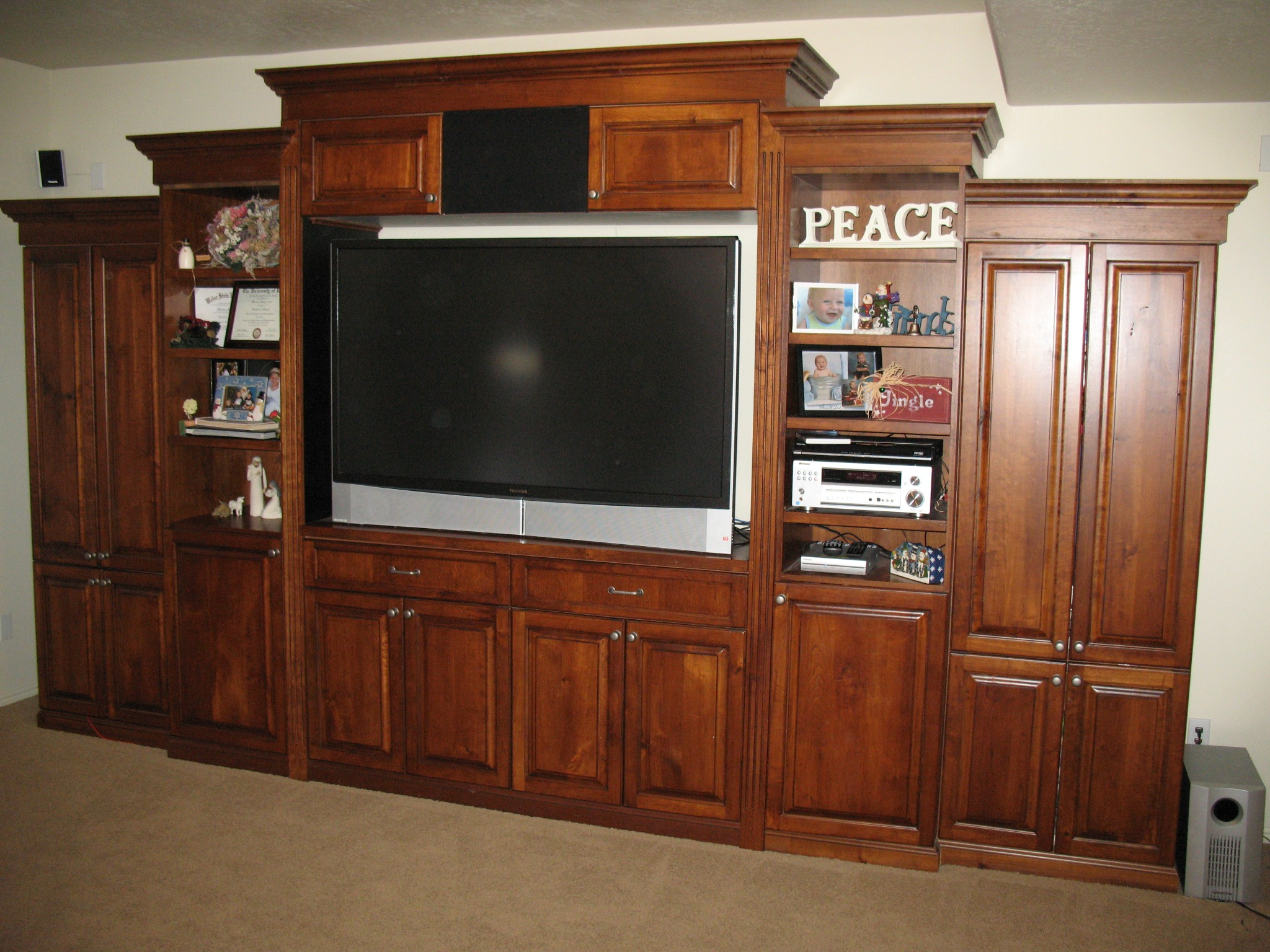 Custom Entertainment Center - Legacy Mill & Cabinet