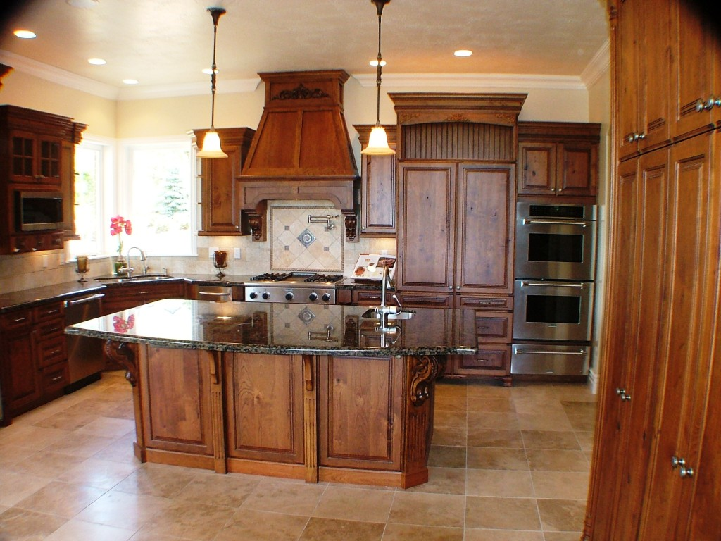 Custom Kitchen With Island Custom Designed, Built And Installed For A  Private Residence In Utah