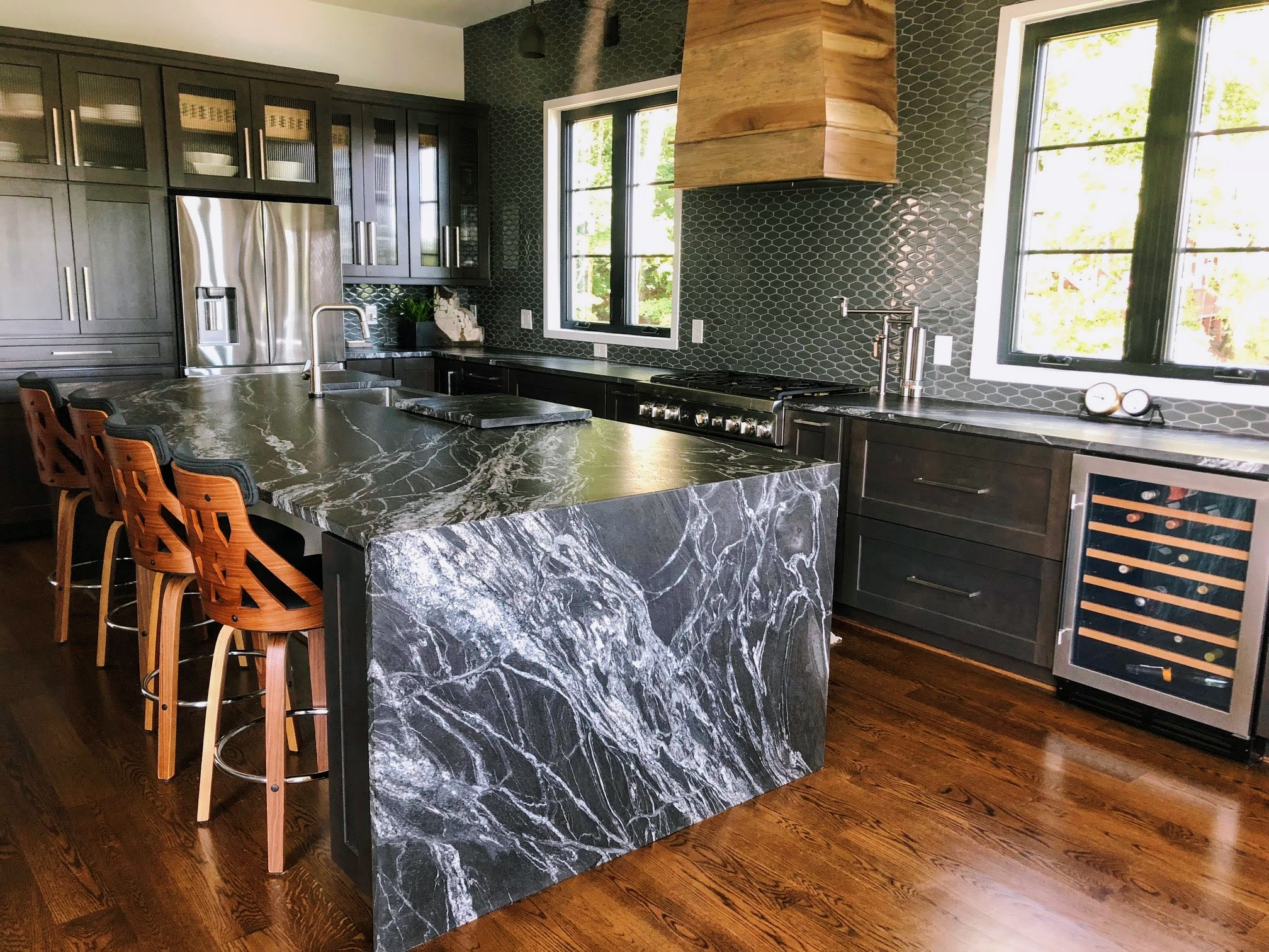 Black Forest Granite Kitchen Tega Cay Legacy Countertops Charlotte Nc