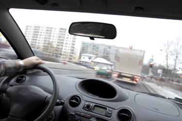 driver in traffic