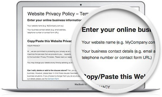 Privacy Policy Sample Template  Sample Privacy Policy Template