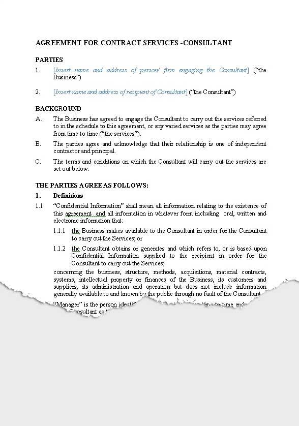 Business \u2013 Service Agreements New Zealand Legal Documents