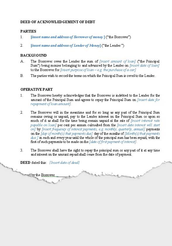 Personal \u2013 Loan Agreements New Zealand Legal Documents, agreements