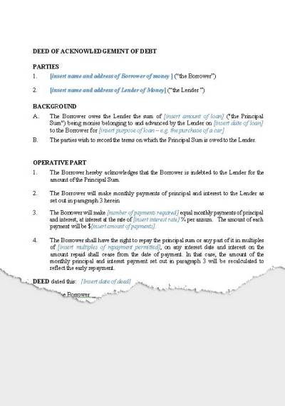 Personal – Loan Agreements   New Zealand Legal Documents, agreements, forms and contract templates
