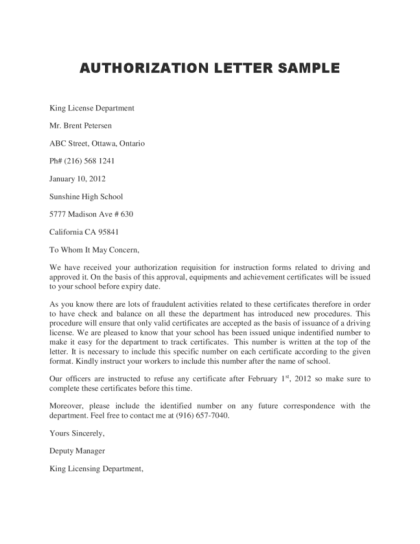 letter of introduction sample for job