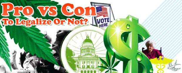 Legalization of marijuana pros and cons essay