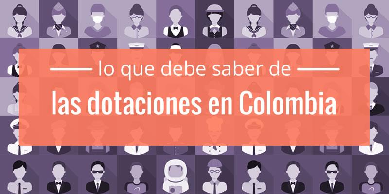 dotaciones en colombia