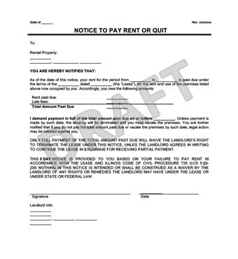 Late Rent Notice Create a Free Notice to Pay Rent or Quit Form - notice form example