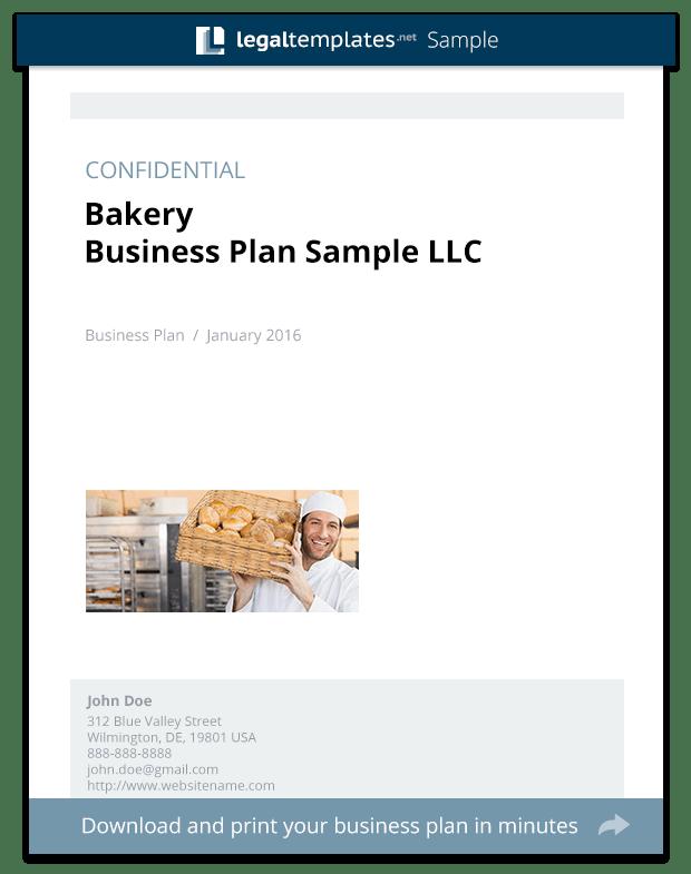 Bread Bakery Business Plan Business Plan Executive Bakery Business Plan Sample Legal Templates