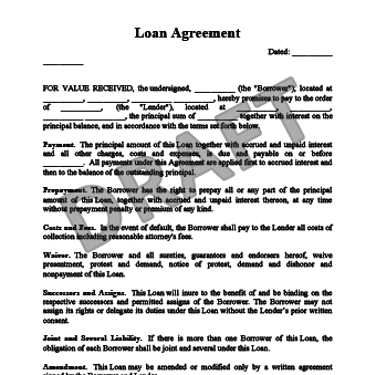 Free Loan Agreement Template   Loan Contract   Legal Templates