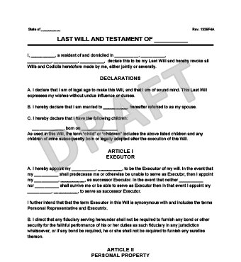 Free Ohio Last Will And Testament Form CV RESUMES MAKER GUIDE - Ohio last will and testament template