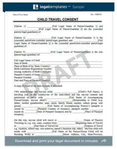 where do i get a child travel consent form child travel consent form free travel consent