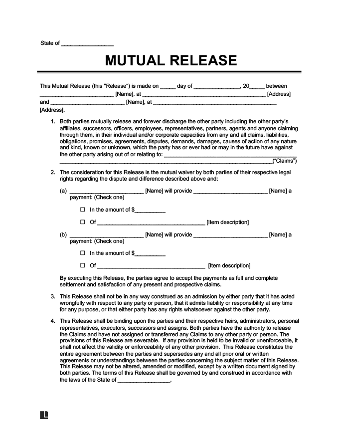 Release of Liability Create a Free Liability Waiver Form