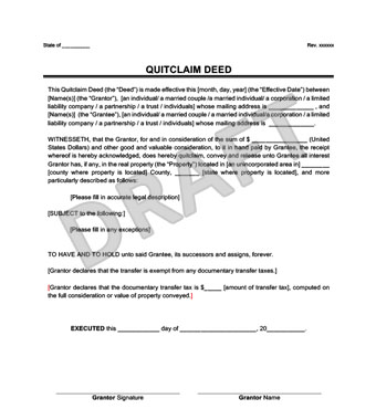 Create a Quitclaim Deed in Minutes Legal Templates - Quick Claim Deed