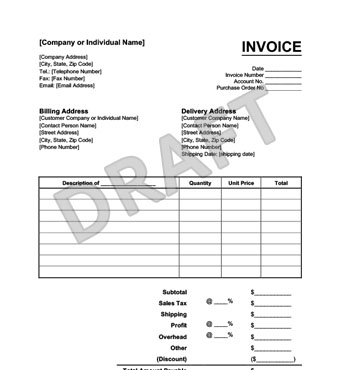 Create an Invoice Form in Minutes LegalTemplates