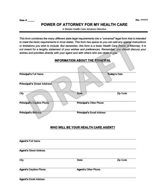 Medical Power of Attorney Form Create a Free Healthcare POA - Medical Power Of Attorney Form