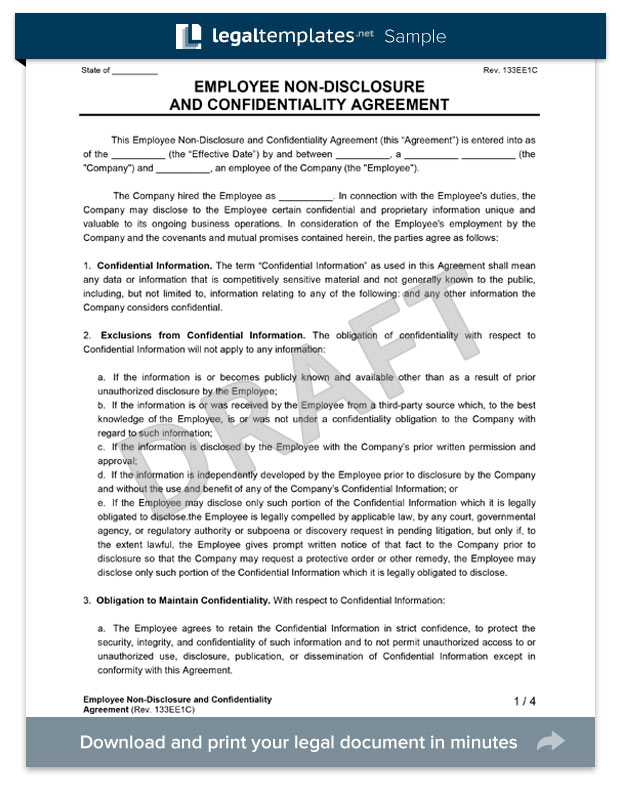 Employee Non-Disclosure Agreement - Create an NDA