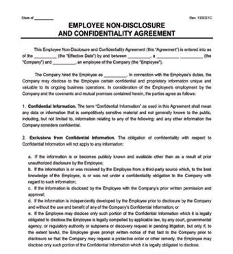 Employee Non-Disclosure Agreement - Create an NDA