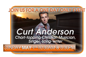 Curt Anderson, chart-topping Gospel artist, Christian singer and musician, at Legana, Sunday May 1st