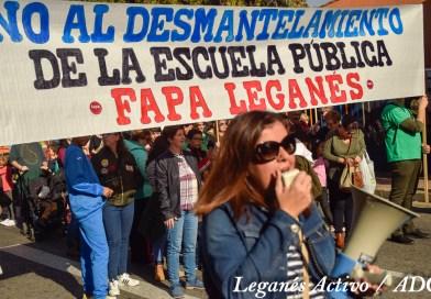 La comunidad educativa de Leganés sale a la calle diciendo 'No' a la LOMCE