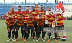 FORT LAUDERDALE, FL - JUNE 4: The Fort Lauderdale Strikers starters pose for a photograph prior to their game against the New York Cosmos on June 4, 2016 at Lockhart Stadium in Fort Lauderdale, Florida. The Strikers defeated the Cosmos 2-1. (Photo by Joel Auerbach/Getty Images)