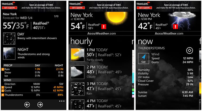 Application AccuWeather