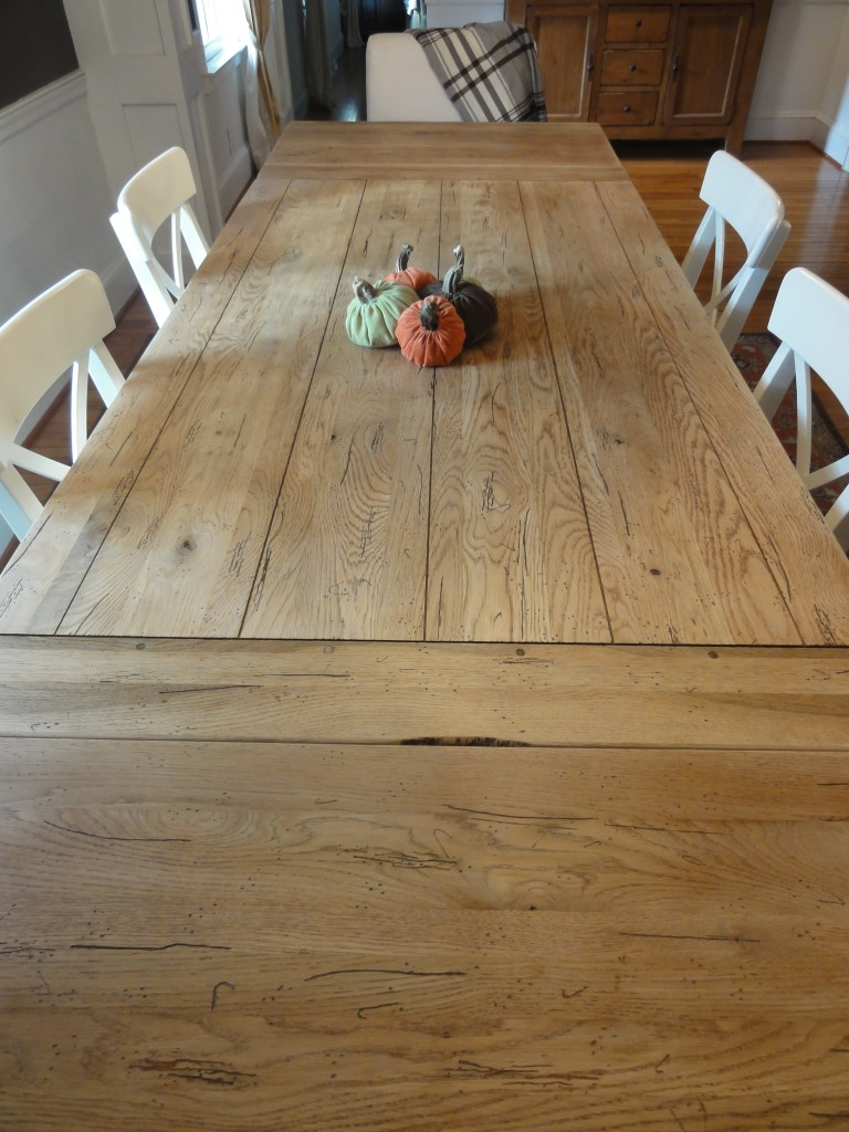 how to refinish a table farmhouse table to restoration hardware hack lehman lane. Black Bedroom Furniture Sets. Home Design Ideas