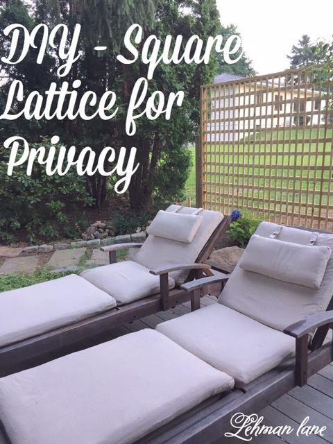 Diy : Square Lattice Fence For Privacy - Lehman Lane