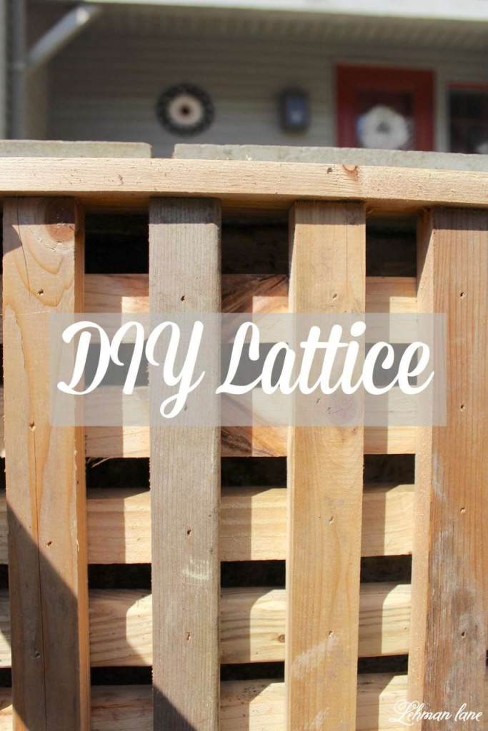 Diy Lattice To Hide An Ugly Wall - Curb Appeal Hop Week 3 - Lehman