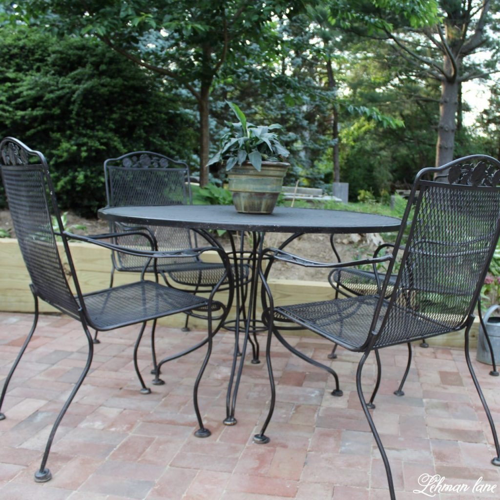 Patio Table Spray Paint Patio Furniture Our Vintage Wrought Iron Patio Set
