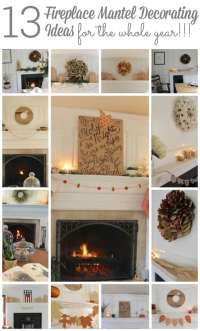 Fireplace Mantel Decorating Ideas for the Whole Year ...