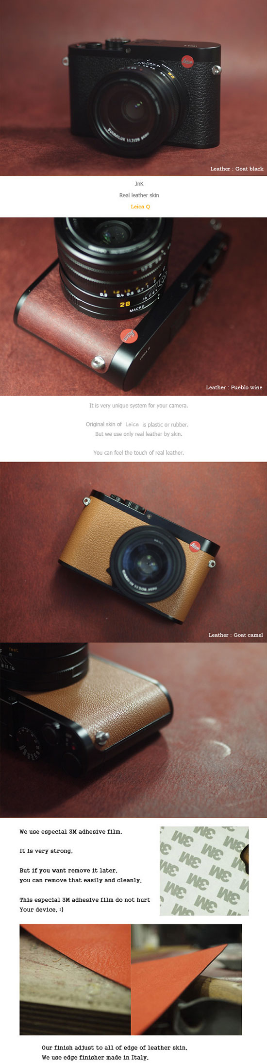 Arte Di Mano Half Case Arte Di Mano Leather Skin For Leica Q Camera Leica Rumors