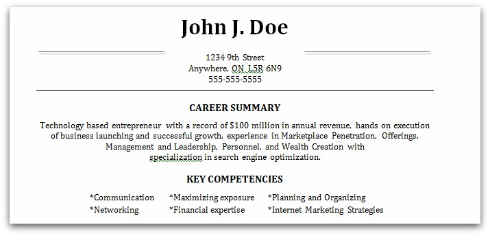 Examples Of Completed Resumes - Examples of Resumes - completed resume examples