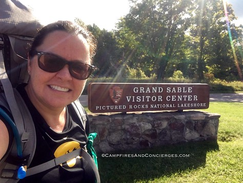 Starting the hike at Grand Sable
