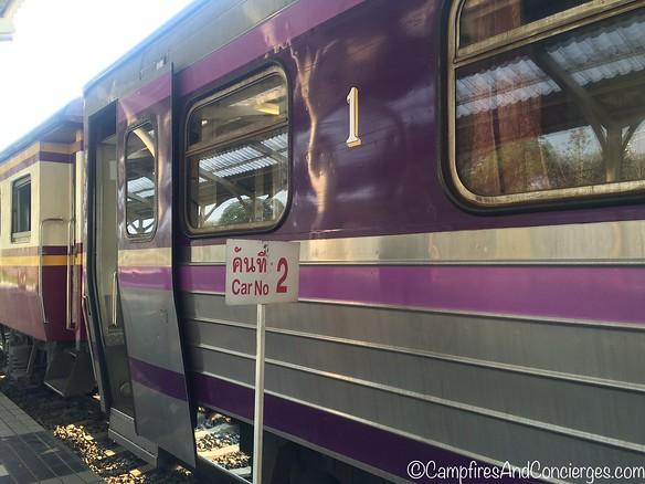 First class car (First Class is a relative term here)