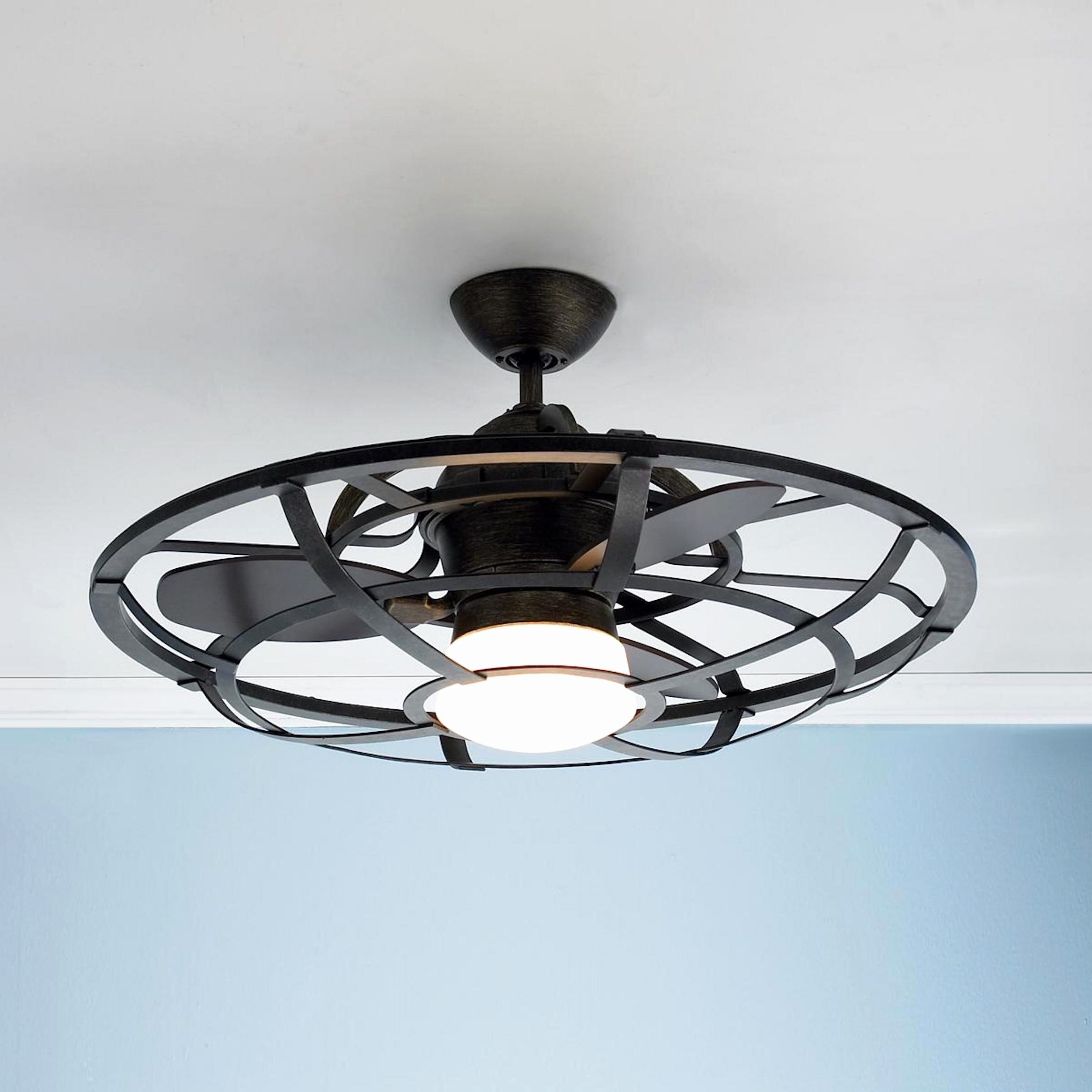 Industrial Style Ceiling Fans View Photos Of Outdoor Ceiling Fans With Lantern Showing 14 Of 20