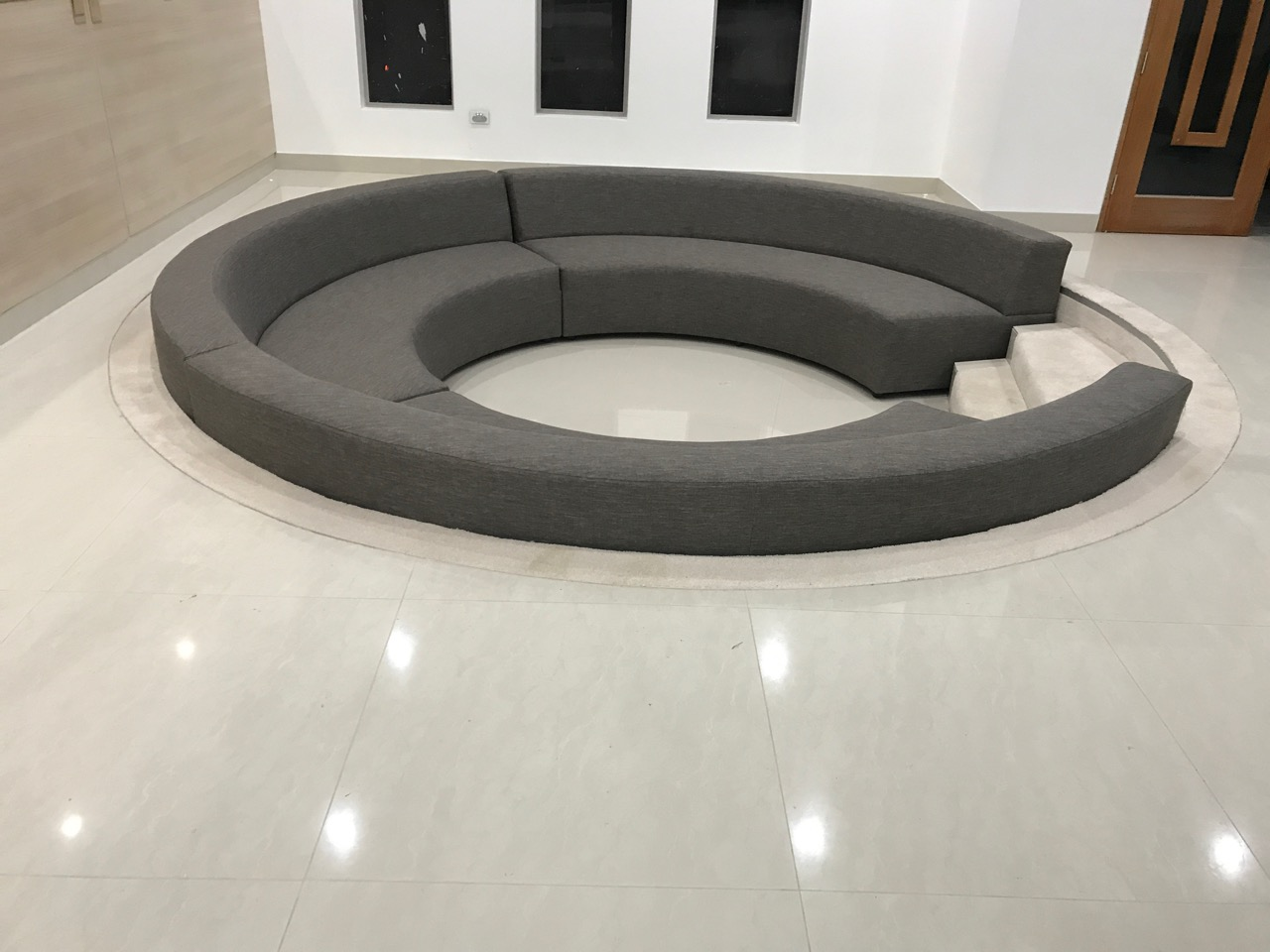 Campbelltown Furniture Leisure Lounges Round Sunken Lounge Lounges Narellan