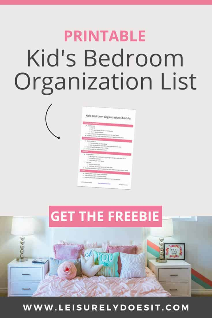 7 Awesome Tips For Organizing Your Kid S Bedroom