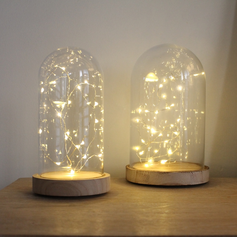 Gifi Meuble Jardin Dome Lumineux En Verre à Led Version Small - Le Joli Shop